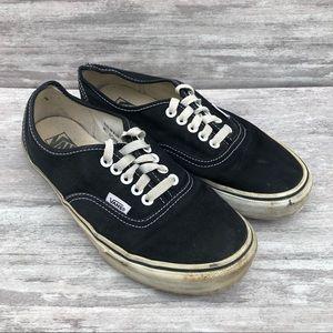 VANS Black lace up low top loafer
